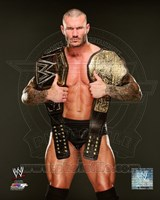 Randy Orton with the WWE Heavyweight Championship Belts 2013 Posed Fine Art Print