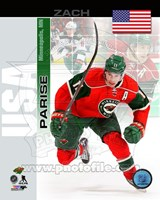 Zach Parise- USA Portrait Plus Fine Art Print