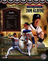 Tom Glavine MLB Hall of Fame Legends Composite Fine Art Print