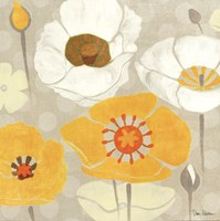 Sunshine Poppies II Square Fine Art Print