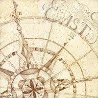 Coast to Coast Sepia III Fine Art Print