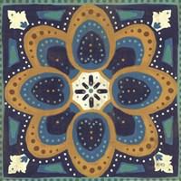 Proud as a Peacock Tile I Fine Art Print