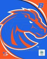 Boise St. University Broncos Team Logo Fine Art Print