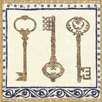 Regal Keys Indigo and Cream Fine Art Print