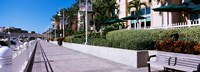 Buildings along a walkway, Garrison Channel, Tampa, Florida, USA Fine Art Print
