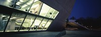 Concert hall lit up at night, Casa Da Musica, Porto, Portugal Fine Art Print