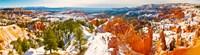High angle view of rock formations, Boat Mesa, Bryce Canyon National Park, Utah, USA Fine Art Print