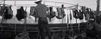 Cowboy with tacks at rodeo, Pecos, Texas Fine Art Print