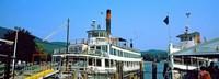 Minne Ha Ha Steamboat at dock, Lake George, New York State, USA Fine Art Print