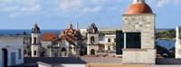 Traditional buildings of Havana, Cuba Fine Art Print