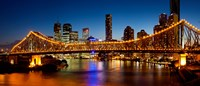 Bridge across a river, Story Bridge, Brisbane River, Brisbane, Queensland, Australia Fine Art Print