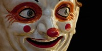Close-up of a clown at a shop, El Ingenio, Barcelona, Catalonia, Spain Fine Art Print