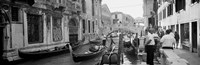 Buildings along a canal, Grand Canal, Rio Di Palazzo, Venice, Italy (black and white) Fine Art Print