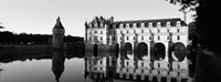 Chateau de Chenonceaux Loire Valley France (black and white) Fine Art Print
