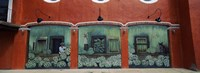 Mural on a wall, Cancun, Yucatan, Mexico Fine Art Print