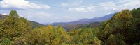 View from River Road, Great Smoky Mountains National Park, North Carolina, Tennessee, USA Fine Art Print