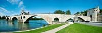 Bridge across a river, Pont Saint-Benezet, Rhone River, Avignon, Vaucluse, Provence-Alpes-Cote d'Azur, France Fine Art Print