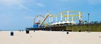 Pacific park, Santa Monica Pier, Santa Monica, Los Angeles County, California, USA Fine Art Print