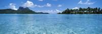 Motu and lagoon, Bora Bora, Society Islands, French Polynesia Fine Art Print