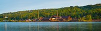 Abandoned copper mine at the waterfront, Keweenaw Waterway, Houghton, Upper Peninsula, Michigan, USA Fine Art Print