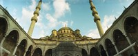 Low angle view of inside of New Mosque, New Mosque, Eminonu, Istanbul, Turkey Fine Art Print