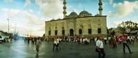 Courtyard in front of Yeni Cami, Eminonu district, Istanbul, Turkey Fine Art Print