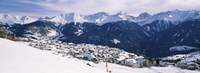Ski resort with mountain range in the background, Fiss, Tirol, Austria Fine Art Print