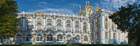 Facade of a palace, Catherine Palace, Tsarskoye Selo, St. Petersburg, Russia Fine Art Print
