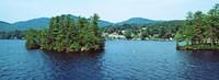 Wooded island, Lake George, New York State, USA Framed Print