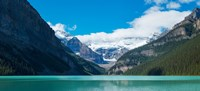 Lake Louise with Canadian Rockies in the background, Banff National Park, Alberta, Canada Framed Print