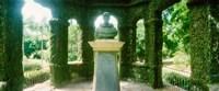 Memorial statue in the house of cedar, Jardim Botanico, Zona Sul, Rio de Janeiro, Brazil Fine Art Print
