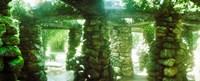 Stone canopy in the botanical garden, Jardim Botanico, Zona Sul, Rio de Janeiro, Brazil Fine Art Print
