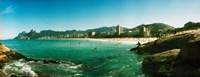 Tourists on the beach, Ipanema Beach, Rio de Janeiro, Brazil Fine Art Print