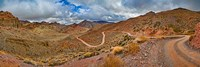 Road passing through landscape, Titus Canyon Road, Death Valley, Death Valley National Park, California, USA Fine Art Print