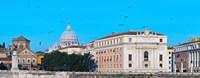 St. Peter's Basilica in Vatican City, Ponte Sant Angelo, Rome, Lazio, Italy Fine Art Print