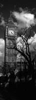 Big Ben, London, England, United Kingdom (black and white) Fine Art Print