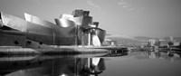 Reflection of a museum on water, Guggenheim Museum, Bilbao, Spain Fine Art Print