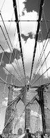 Brooklyn Bridge, Manhattan, New York City (black and white, vertical) Fine Art Print