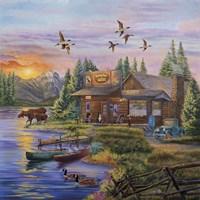 Sunset on the Lake Fine Art Print