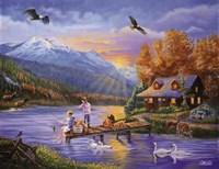 Grandpa's Cabin Fine Art Print