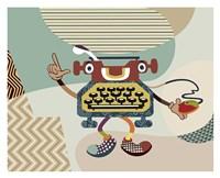 Retro Typewriter I Fine Art Print
