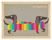 Mod Rainbow Dogs Fine Art Print