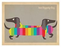 Mod Rainbow Dogs Fine Art Print