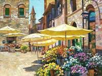 Siena Flower Market Fine Art Print
