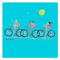 Tour de Girls Framed Print