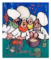 I Quatro Tenore Fine Art Print