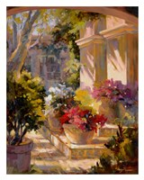 Flowered Courtyard Fine Art Print