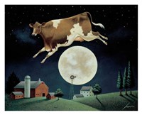 Cow Jumps over the Moon Fine Art Print