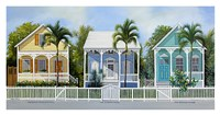 Key West Cottages Framed Print