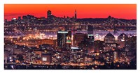 Oakland SF Twilight Framed Print
